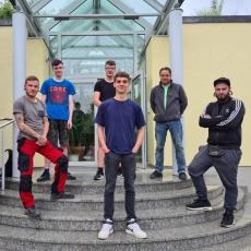 5 Lehrlinge 2020 (Ludwig, Ellermeier, Hetterle, Schumann, Schere, Kluge)